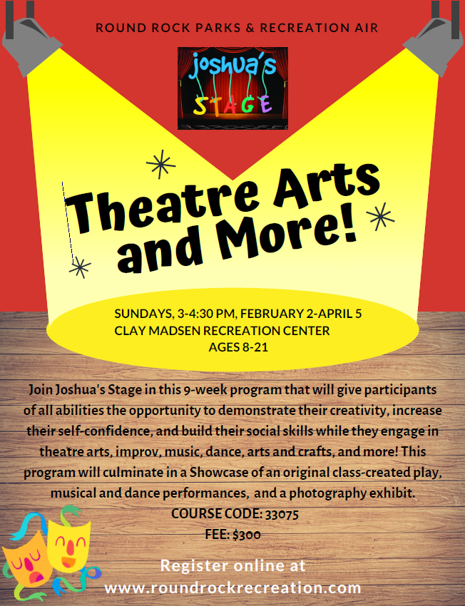 Theatre Arts and More! Workshop Spring 2020 with RR PARD